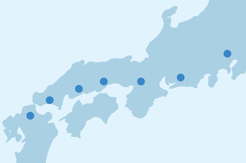 西日本、関西、中部の主要な都市、幹線道路を中心に倉庫を保有しています。 全国にある倉庫ネットワークで、様々なニーズに対応可能です。